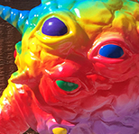 Taste the Rainbow Kaiju Eyezon Nagata paints