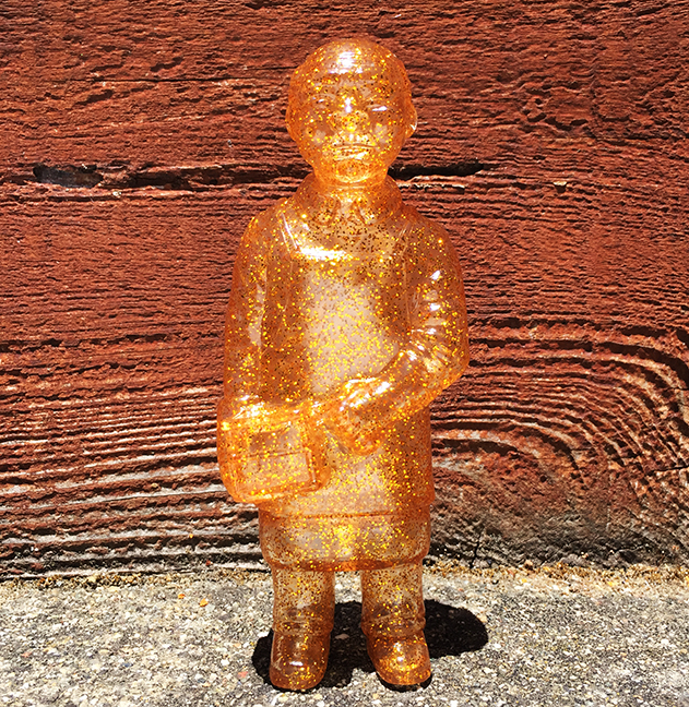 Gold Glitter Sofubi-man sofubi kaiju maker