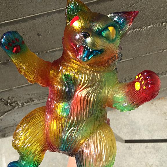 Father & Son Custom show Collab King Negora Cat Kaiju Max and Mark Nagata