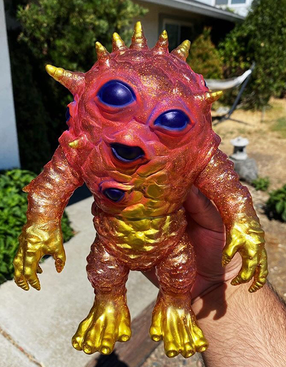 Glitter painted Kaiju Eyezon Michael Devera painter micro run