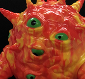 Kaiju Eyezon Orange Yellow marbled painted version