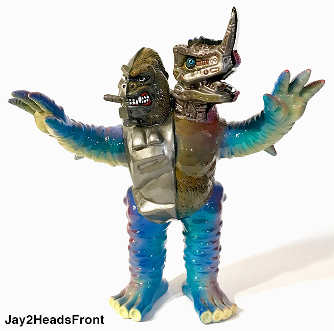 Max toy 15 artist Jay222 2 Headed kaiju custom Eyezon