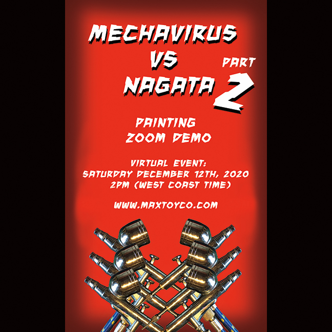 Part 2 ! Mechavirus vs Nagata paint demo virtual ticket
