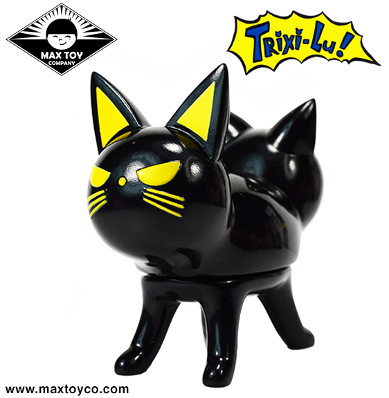 Trixi-Lu Cat soft vinyl figure Glossy Black Cat colorway