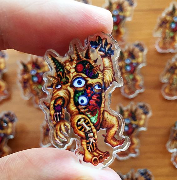 Acrylic Pin Kaiju Eyezon Anatomy Nagata art