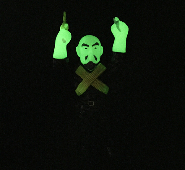 Radioactive Gerald Okamura Man of Many Weapons Glow in Dark