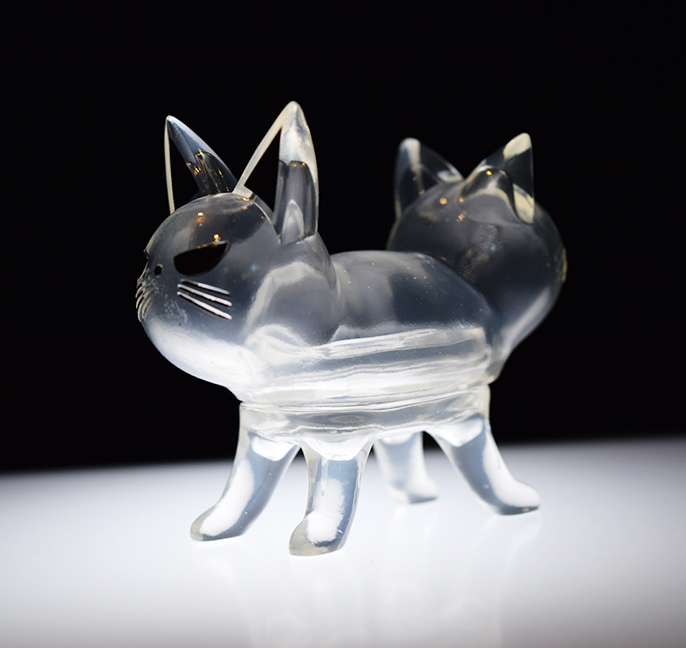 Trixi-Lu Ghost Cats version Clear Sofubi meow