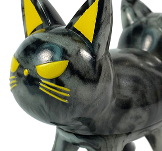 Trixi-Lu Cat soft vinyl figure Black Marbled Glow in Dark...