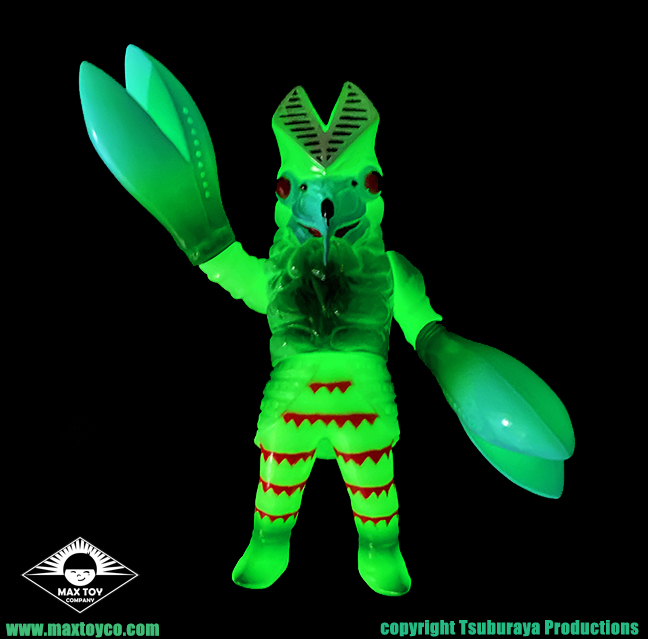 Alien Baltan Glow In dark version Tsuburaya Productions x Max Toy Ultraman