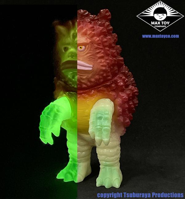 PRE ORDER - Garamon Ultra Q Tsuburaya Productions Kaiju Glow in Dark version