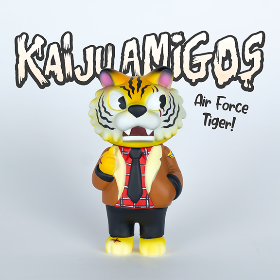 Kaiju Amigos Air Force Tiger! painted by Javier Jimenez custom