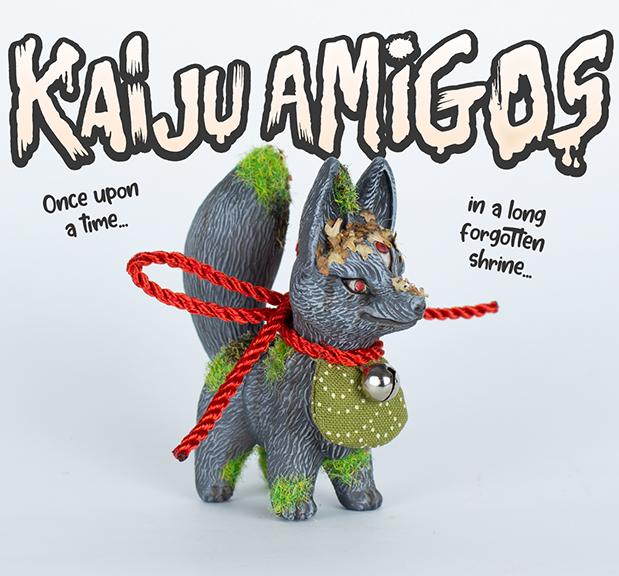 Kaiju Amigos Long Forgotten Kitsura painted by Javier Jimenez