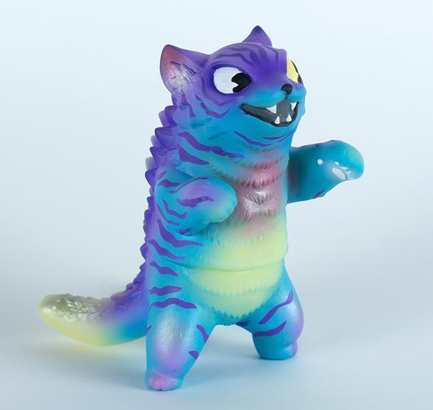 Kaiju Amigos Purple Tiger Boi ( mini Negora)  painted by Javier Jimenez Green