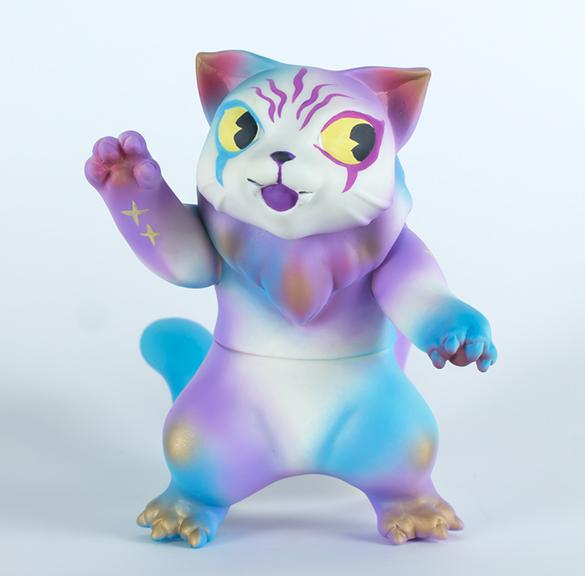 Kaiju Amigos (Blue) Pastel Nyagira Cat painted by Javier Jimenez custom