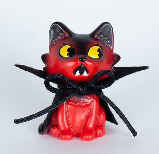 "Kaiju Amigos ""The Devil You Don't"" Baby Wananeko Cat painted by Javier Jimenez custom"