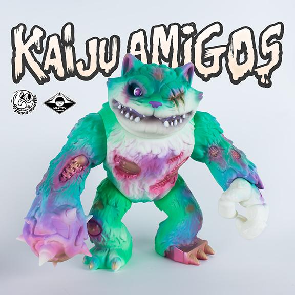 Kaiju Amigos Pathetic (Animatronic Wananeko) painted by Javier Jimenez Green