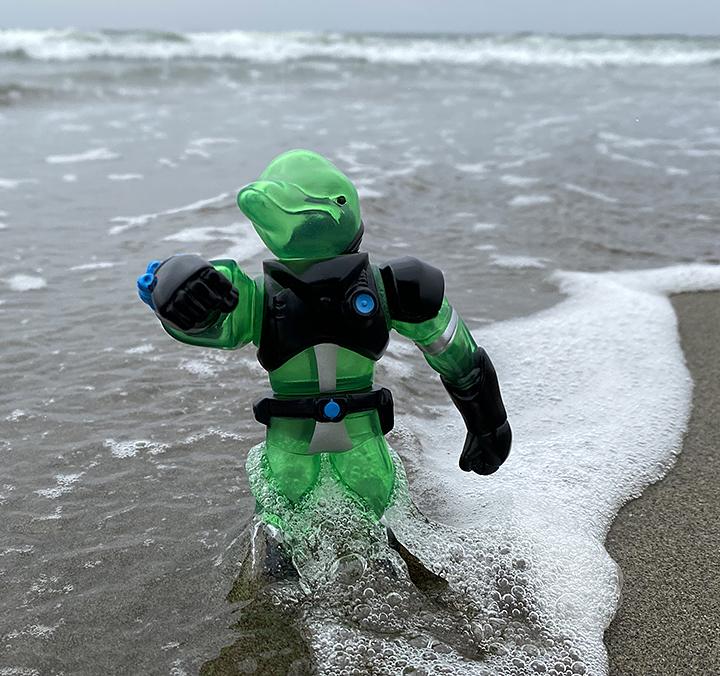 Galaxy Patrol Dolphin Clear Green version