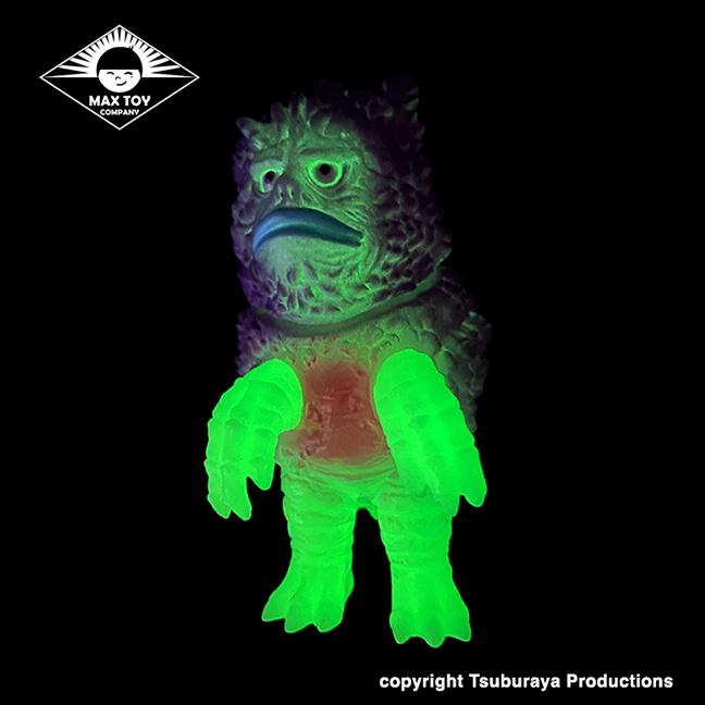 Garamon Ultra Q Tsuburaya Productions Kaiju Glow in Dark version Purple