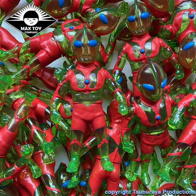 Ultraman Max Toy x Tsuburaya Productions Green Chili version clear sofubi