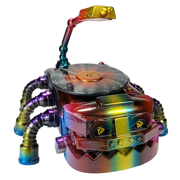 Turntable Tarantula figure by s.w.a.r.m.m Painted by Mark Nagata Metal version