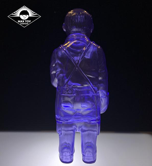 Sofubi-man Clear Purple sofubi kaiju monster