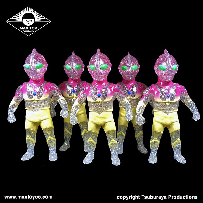 Ultraman Max Toy x Tsuburaya Productions Sunset Fade version clear sofubi